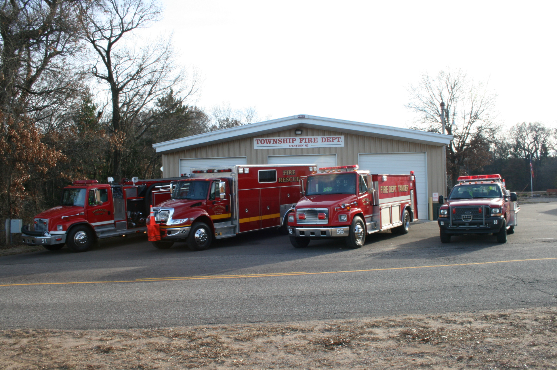 Fire truck lineup