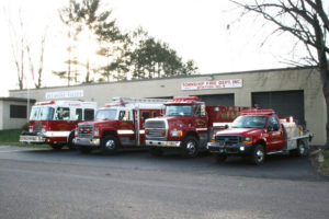 Pleasant Valley fire truck lineup