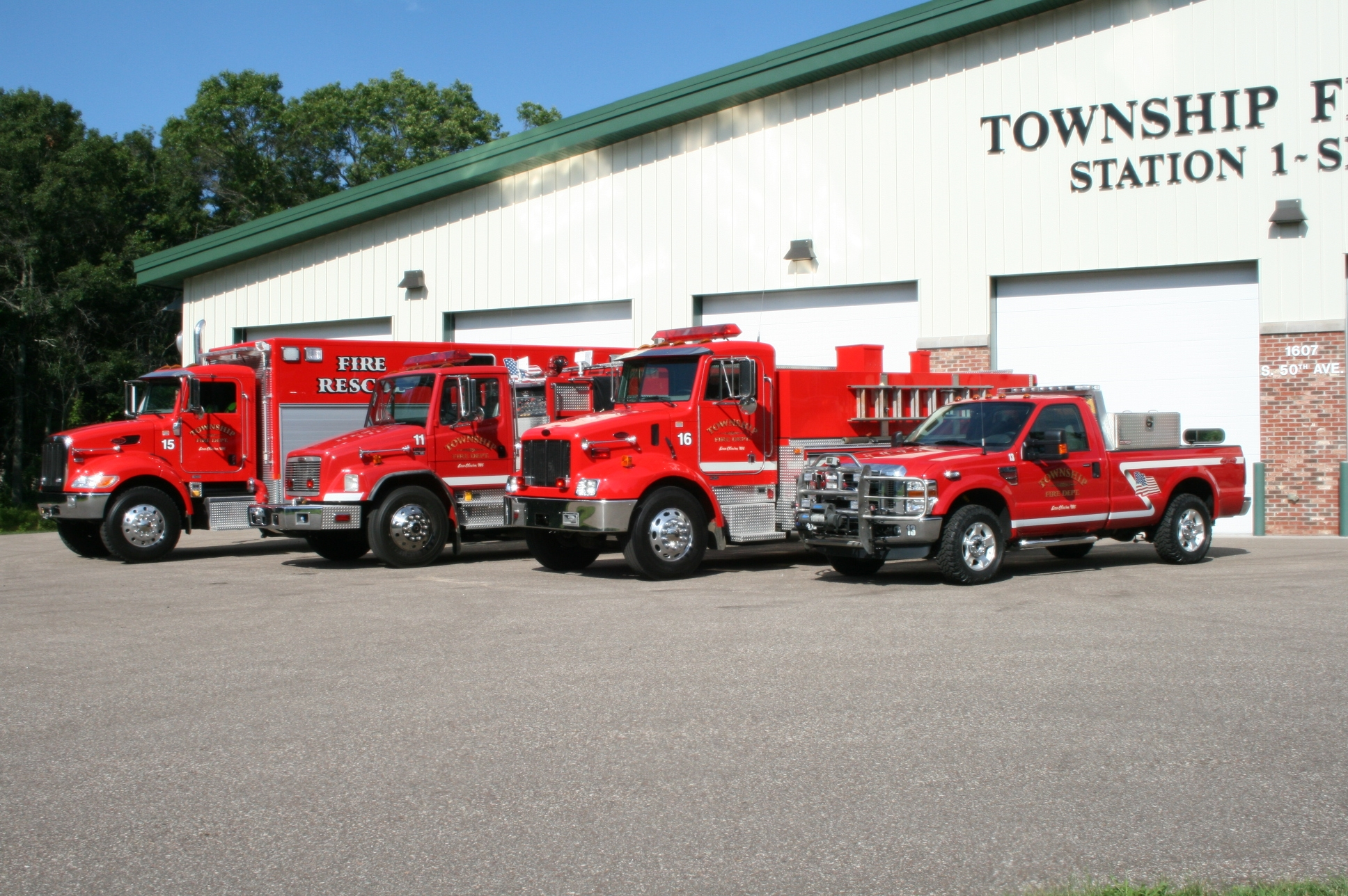 Seymour Township Station 1 truck lineup