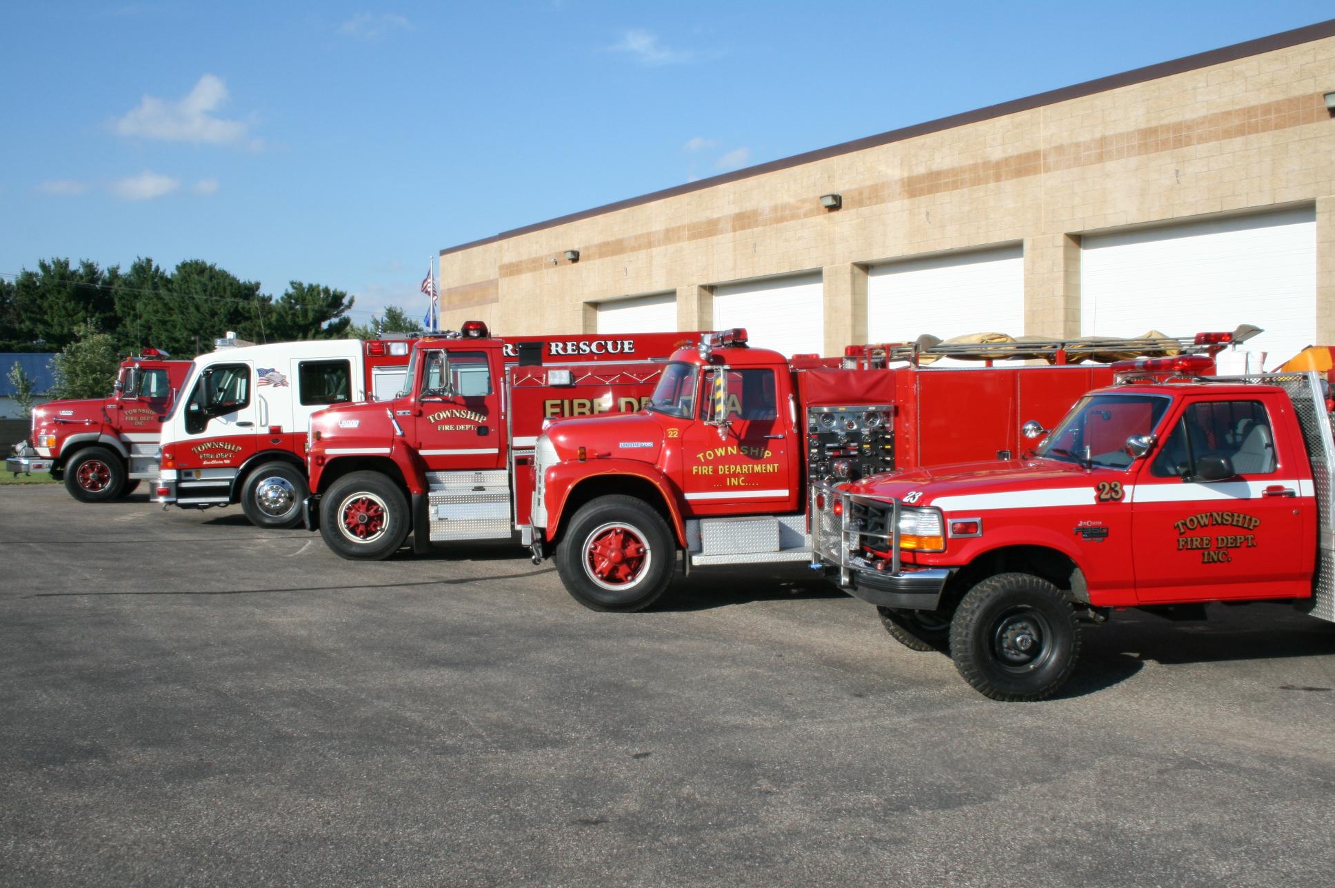 Washington Township truck lineup side